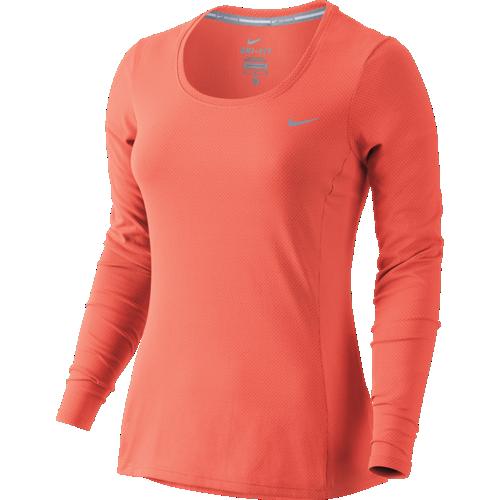 6f43dda19587 ... Polyester Black  Nike Dri-FIT Contour Long Sleeve Top Womens ...