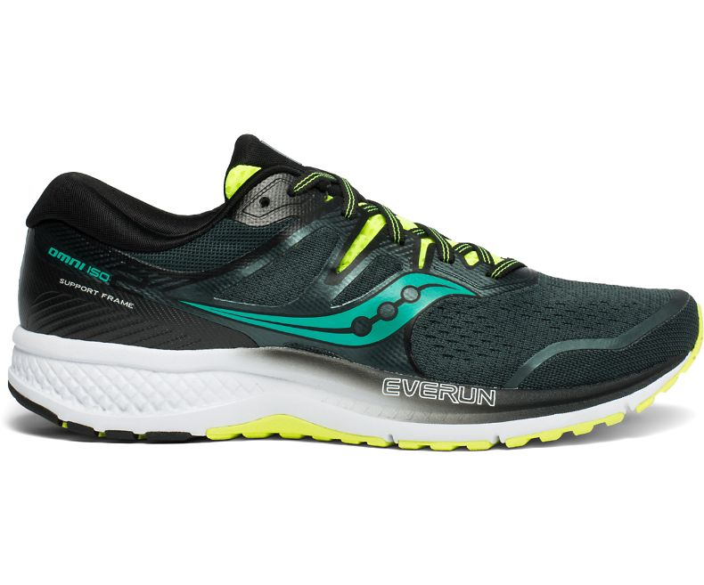 Saucony Omni ISO 2   Green/Teal/White